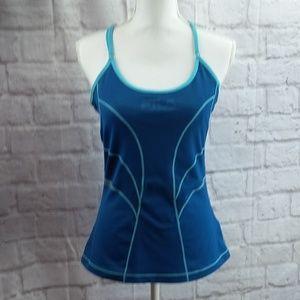 Fila Women's support workout tank top green medium